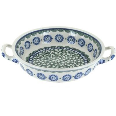 Blue Rose Polish Pottery Maia Mini Casserole Dish with Handles