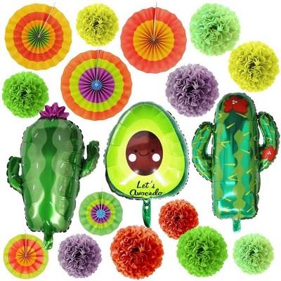 Joyin Fiesta Party Foil Balloons, 19 Pcs