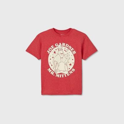 Boys' Disney Joe Gardner and Mr. Mittens Short Sleeve T-Shirt - Red
