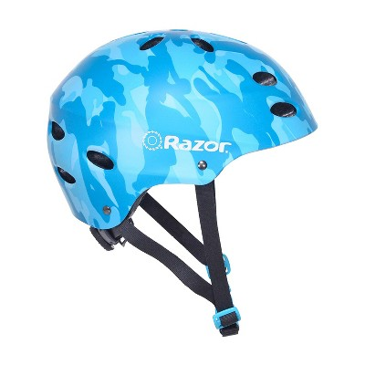 Razor 97869 V-17 Youth Kids Safety Multi Sport Bicycle Helmet For Children 8-14 with 17 Cooling Vents, Adjustable Strap, and Padding, Blue