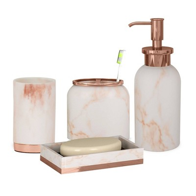 Misty Bath Accessory Set for Vanity Counter Tops - Nu Steel