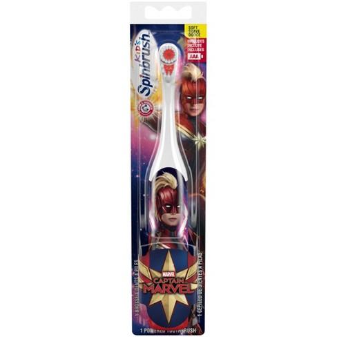 Spinbrush Kids Captain Marvel Powered Toothbrush - 1ct - image 1 of 4