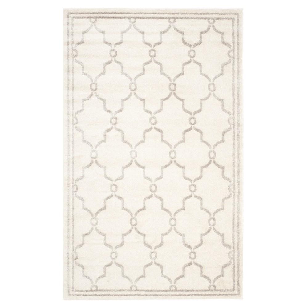 Prato 8'X10' Indoor/Outdoor Loomed Rug - Ivory/Light Gray - Safavieh