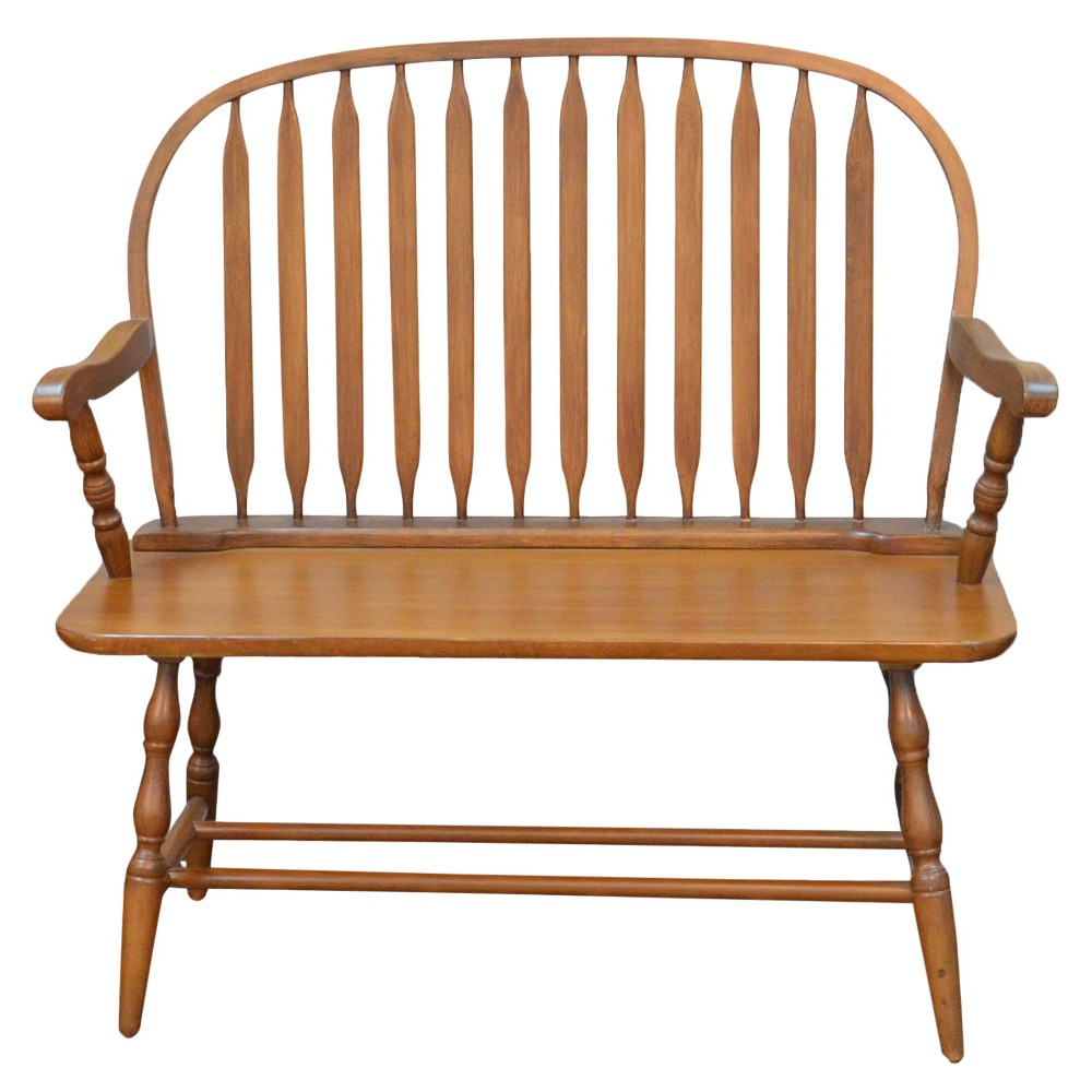 Mosley Windsor Bench - American Oak - Carolina Chair and Table
