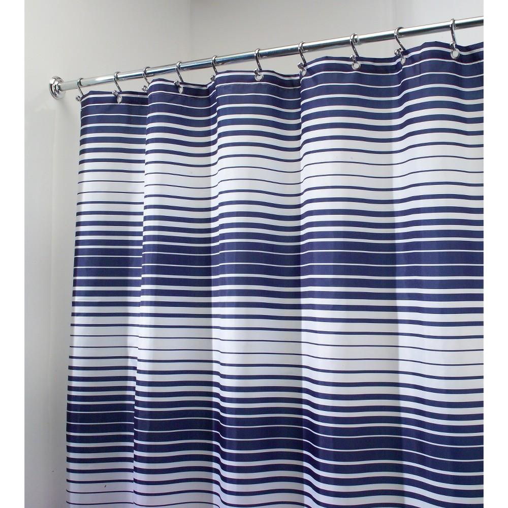 Image of InterDesign Enzo Stripe Polyester Shower Curtain