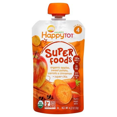 Happy Tot Sweet Potato, Apple, Carrot & Cinnamon Organic Superfoods - 4.2oz - image 1 of 4