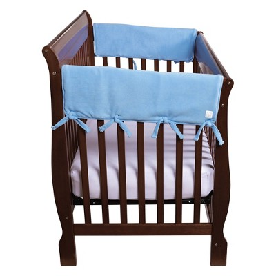 """Trend Lab Set of Two Fleece 27"""" Side Rail Cover for Convertible Crib - Blue"""