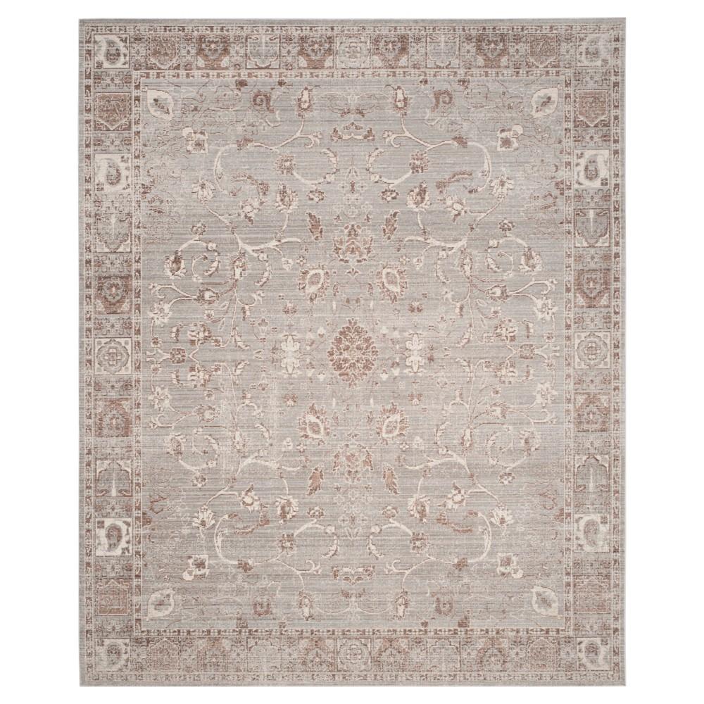Valencia Rug - Gray- (8'x10') - Safavieh, Gray/Brown