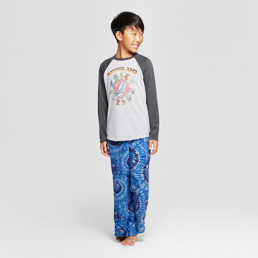 Boys' Grateful Dead 2pc Pajama Set - Gray/Blue S
