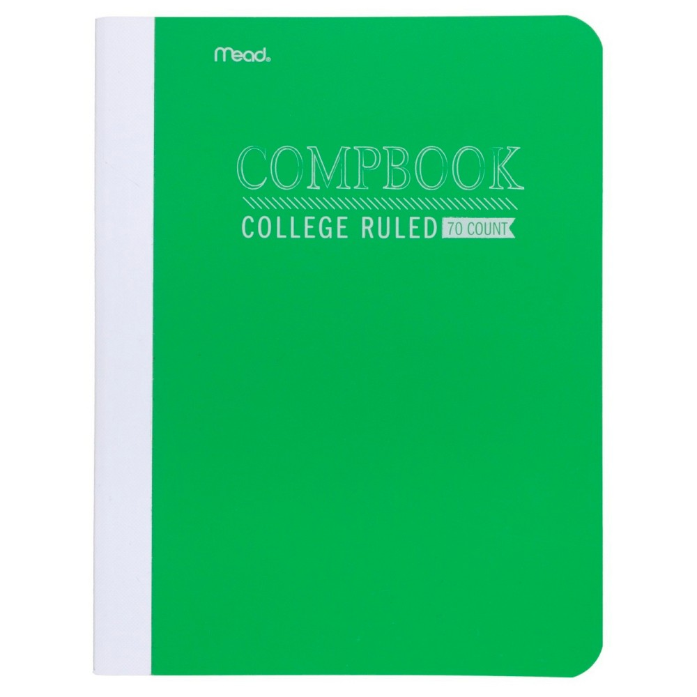 Image of Mead College Ruled Solid Composition Notebook - Green