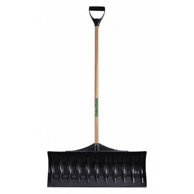 "UNION TOOLS 1628600GR 30""W Poly Snow Shovel with 42"" Wood Handle"