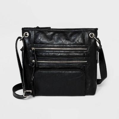 Bueno Zip Closure Shoulder Handbag - Black