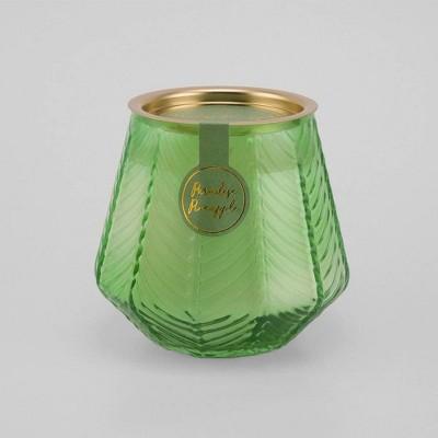 12oz Etched Glass Jar Candle Paradise Pineapple - Opalhouse™