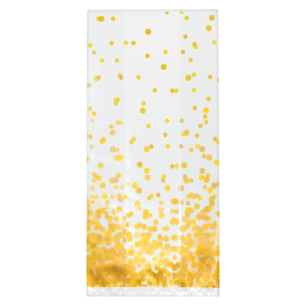 Image of 10ct Dot Favor Bag Gold - Spritz