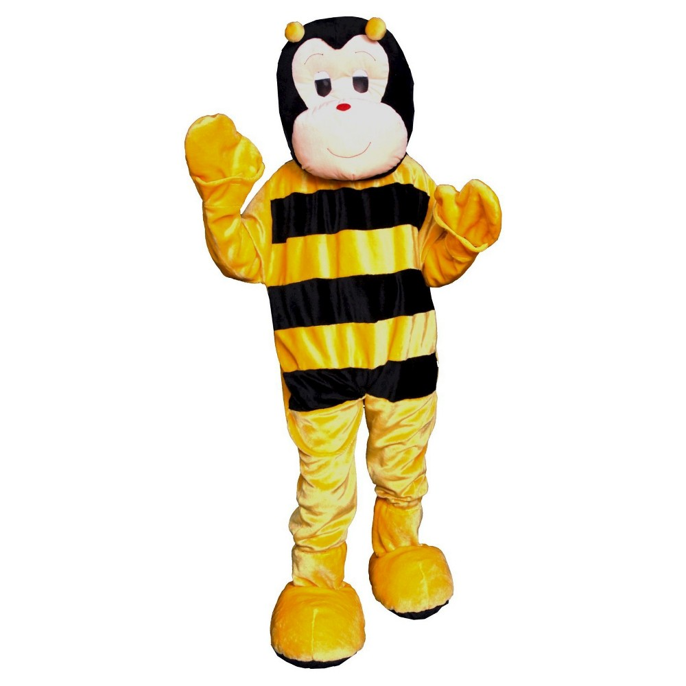Bumble Bee Mascot Adult Costume - One Size, Men's, Yellow