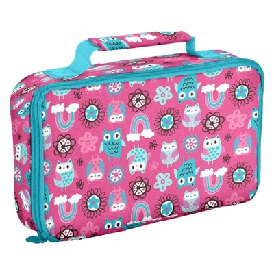 Fit & Fresh Bento Lunch Box Set with Insulated Carry Bag - Rainbow Owl
