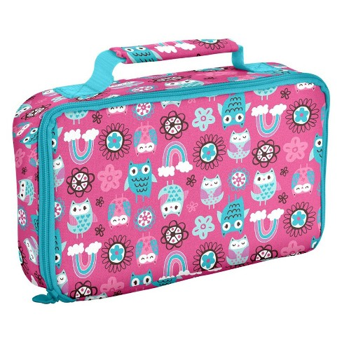 Fit & Fresh Bento Lunch Box Set with Insulated Carry Bag - Rainbow Owl - image 1 of 4