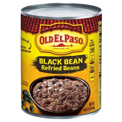 Beans: Old El Paso Black Bean Refried Beans