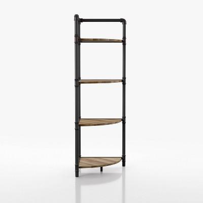 "50.5"" Beeme 4 Tier Corner Bookshelf Sand Black/Light Pure Copper - HOMES: Inside + Out"