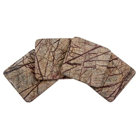 Thirstystone Square Rainforest Marble Coasters Set of 4 - image 1 of 1