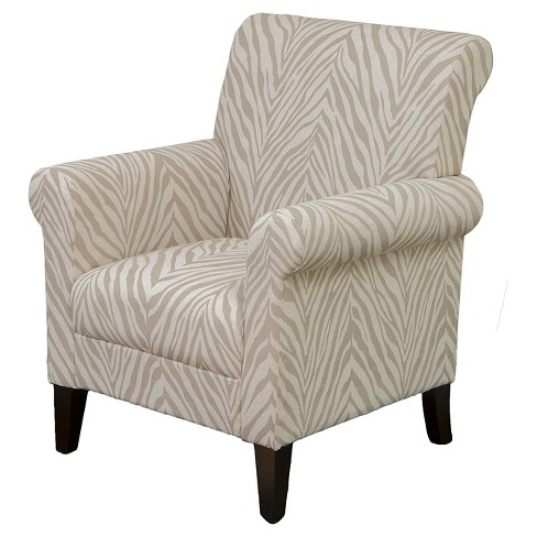 Bigalow Club Chair Beige Zebra - Christopher Knight Home - image 1 of 4