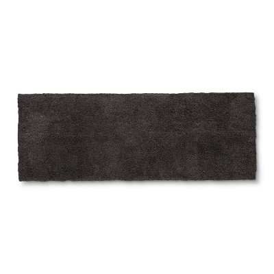 60 x22  Tufted Spa Bath Runner Dark Gray - Fieldcrest®