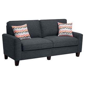 Serta® RTA Astoria Collection 78u0022 Sofa in City Skyline Charcoal, CR46295P