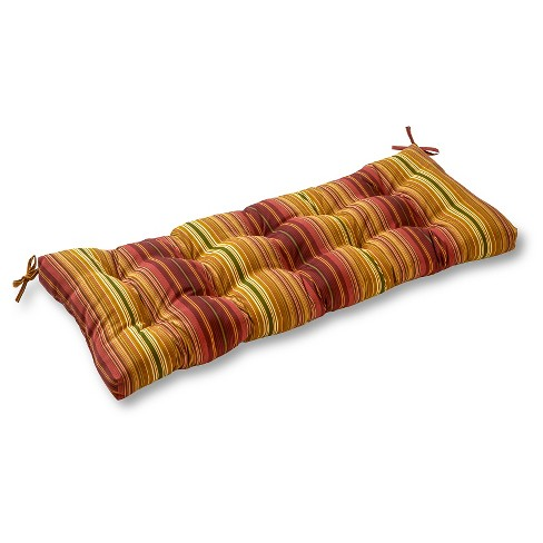 Kinnabari Stripe Outdoor Swing and Bench Cushion - Kensington Garden - image 1 of 4