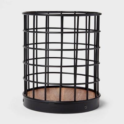 Iron and Mangowood Wire Utensil Holder Black - Threshold™