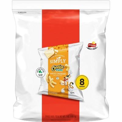 Cheetos Simply White Cheddar Puffs - 8ct