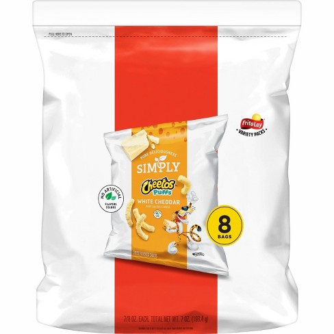 Cheetos Simply White Cheddar Puffs - 8ct - image 1 of 3