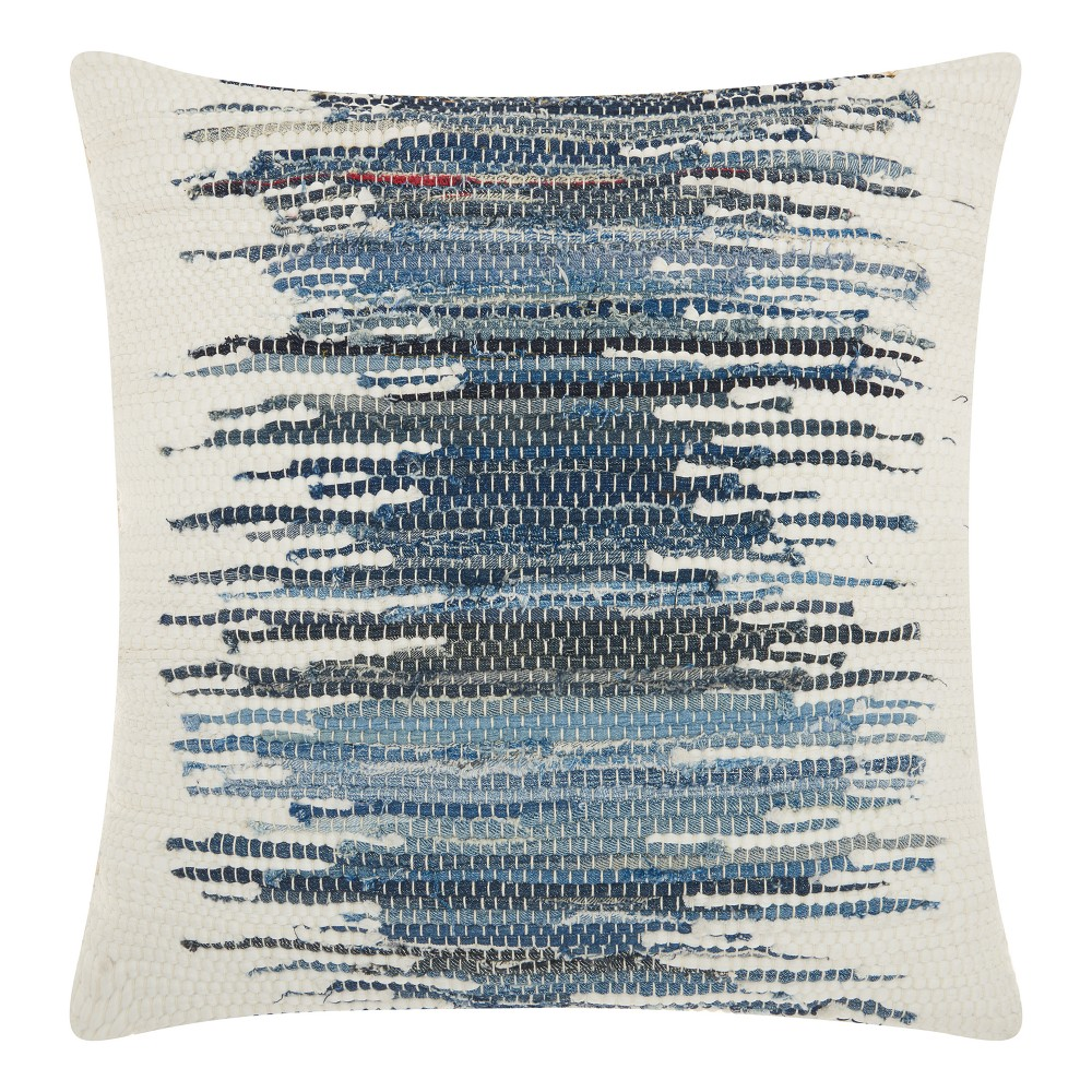 Image of Blue Stripe Throw Pillow - Mina Victory