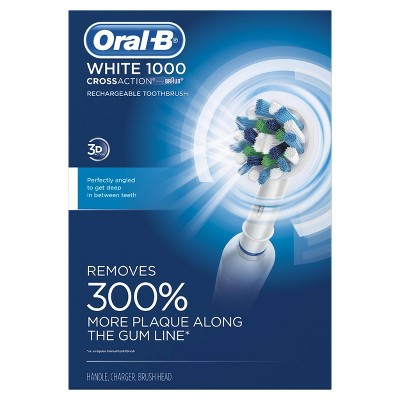 Oral-B White Pro Crossaction 1000 Rechargeable Electric Toothbrush