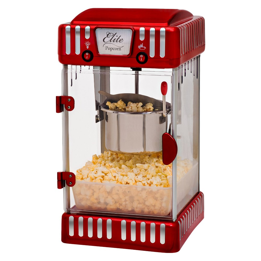 Elite Classic Tabletop 2.5-Ounce Kettle Popcorn Maker in Red