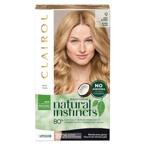 Clairol Natural Instincts Non-Permanent Hair Color - 9 Light Blonde, Sahara - 1 kit - image 1 of 4