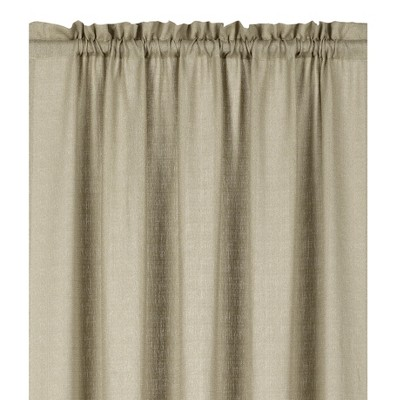 Kate Aurora Living Textured Crepe Sheer Window Curtain Treatments And Valances