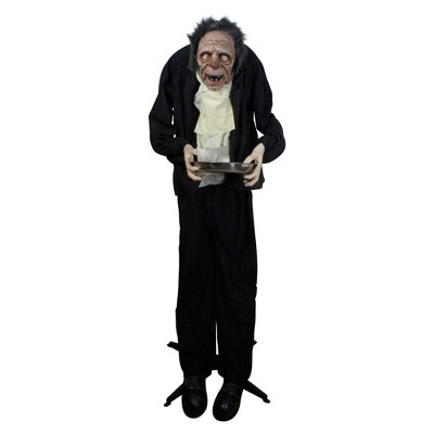 Northlight 6' Lighted Animated Scary Butler Standing Halloween Decoration