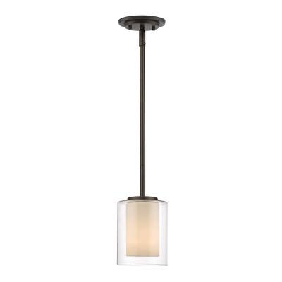 1 Light Mini Pendant Olde Bronze - Aurora Lighting
