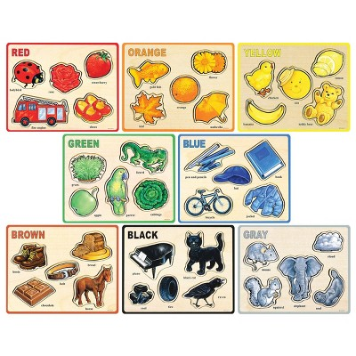 Puzzleworks Basic Color and Word Puzzles  - Set of 8