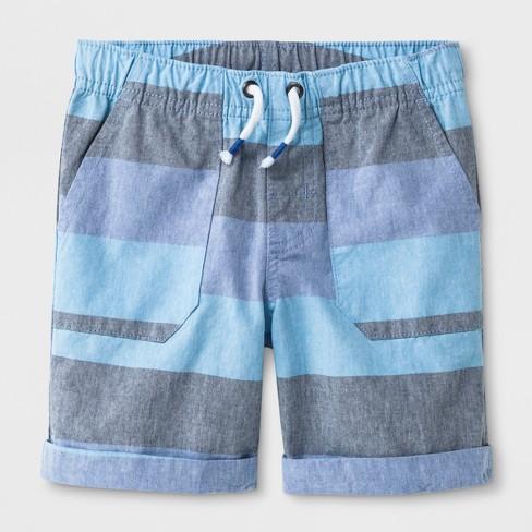 Toddler Boys' Pull-On Shorts - Cat & Jack™ Blue - image 1 of 2