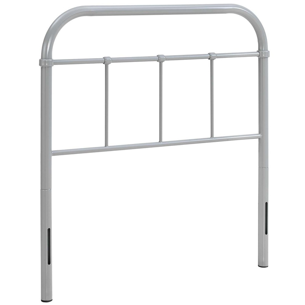 Image of Serena Twin Steel Headboard Gray - Modway