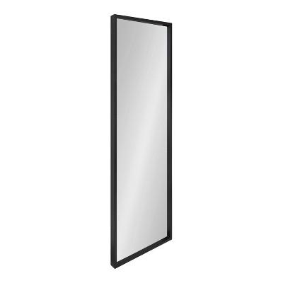 "16"" x 48"" Travis Framed Decorative Wall Mirror Black - Kate & Laurel All Things Decor"