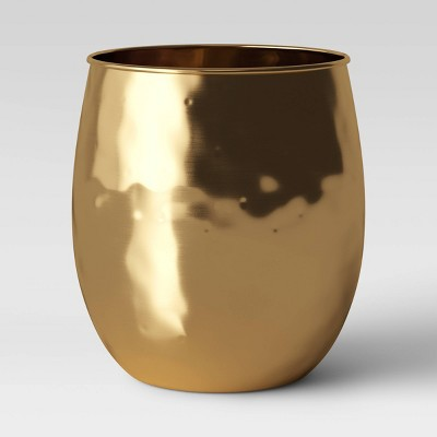 "9.6"" x 9.6"" Metal Planter Vase Gold - Threshold™"