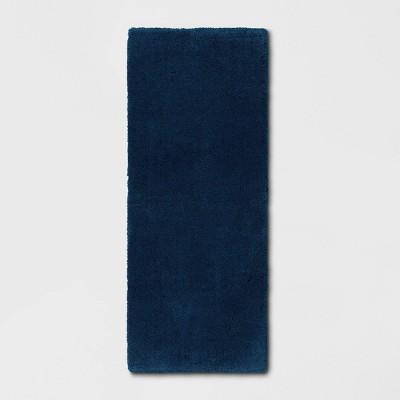 "24""x60"" Bath Rug Dark Blue - Threshold Signature™"