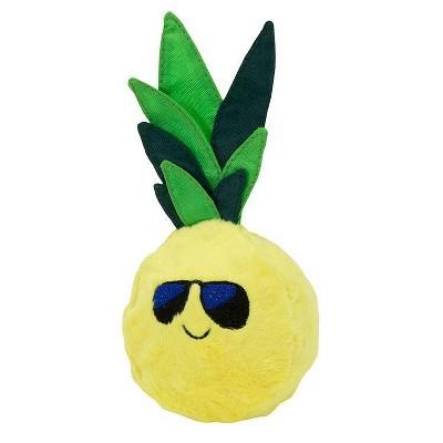 "Pineapple Squeaker Plush & Rubber Dog Toy - 3"" - Sun Squad™"