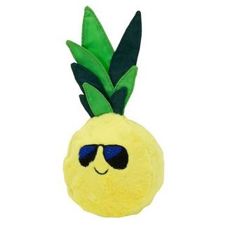 "Pineapple Squeaker Plush & Rubber Dog Toy - 3"" - Sun Squad™"
