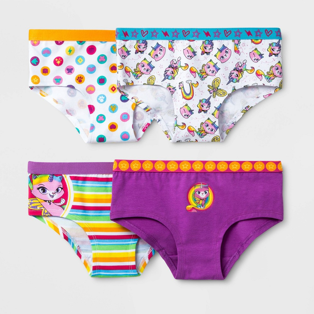Image of Girls' RBUK 4pk Underwear - 10, Girl's, MultiColored