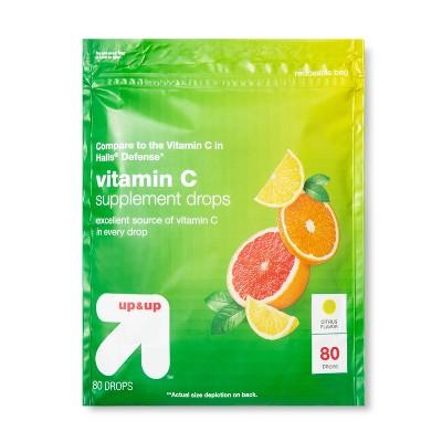 Vitamin C Supplement Drops - Citrus - 80ct - up & up™
