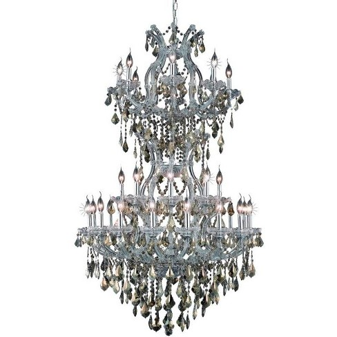 Elegant Lighting 2800D36SC-GT Maria Theresa 34-Light, 3 Tier Crystal Chandelier, Finished in Chrome - image 1 of 1