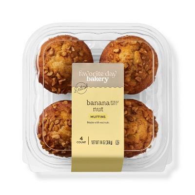 Banana Nut Muffins - 14oz/4ct - Favorite Day™